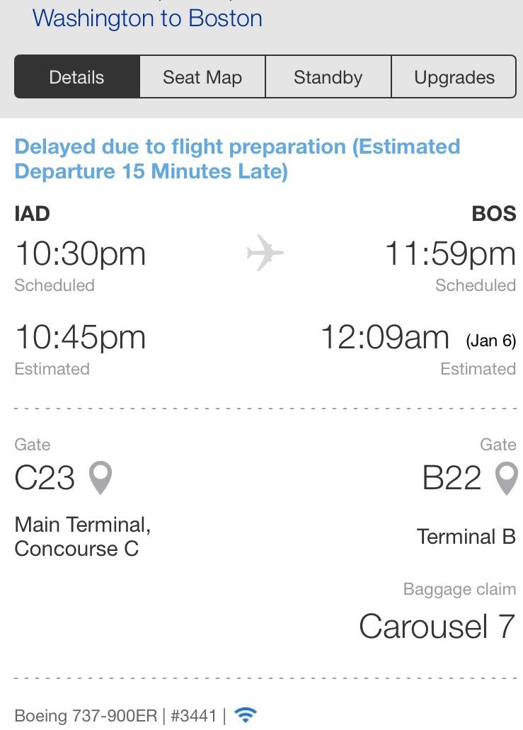 United delay