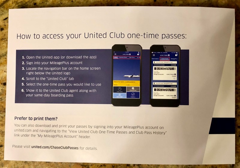 United Airlines Club Passes