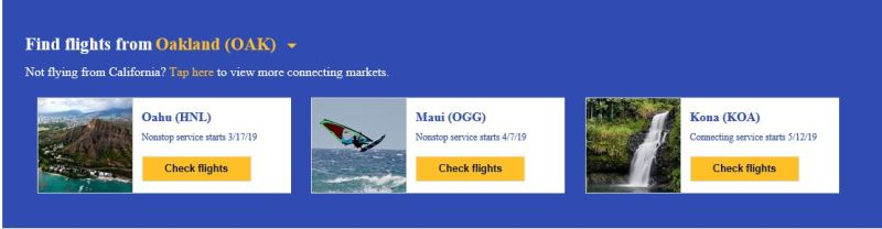 Southwest Airlines Oakland to Hawaii