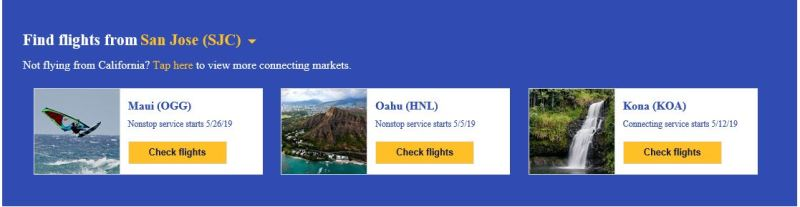 Southwest Airlines San Jose to Hawaii
