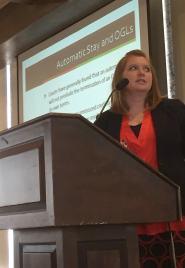 Attorney Melissa Gardner presents at a OCAPL November meeting.
