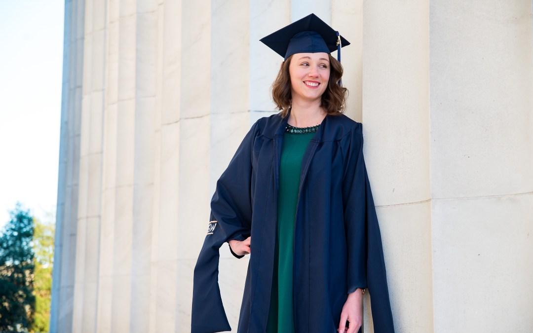 Tessa | Washington, D.C. Sunrise Graduation Portrait