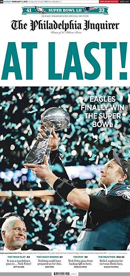 Eagles win SuperBowl