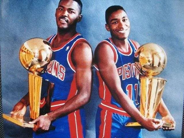 Joe Dumars & Isiah Thomas became members of the championship history of the NBA. Winning 2 straight titles '(89,'90)