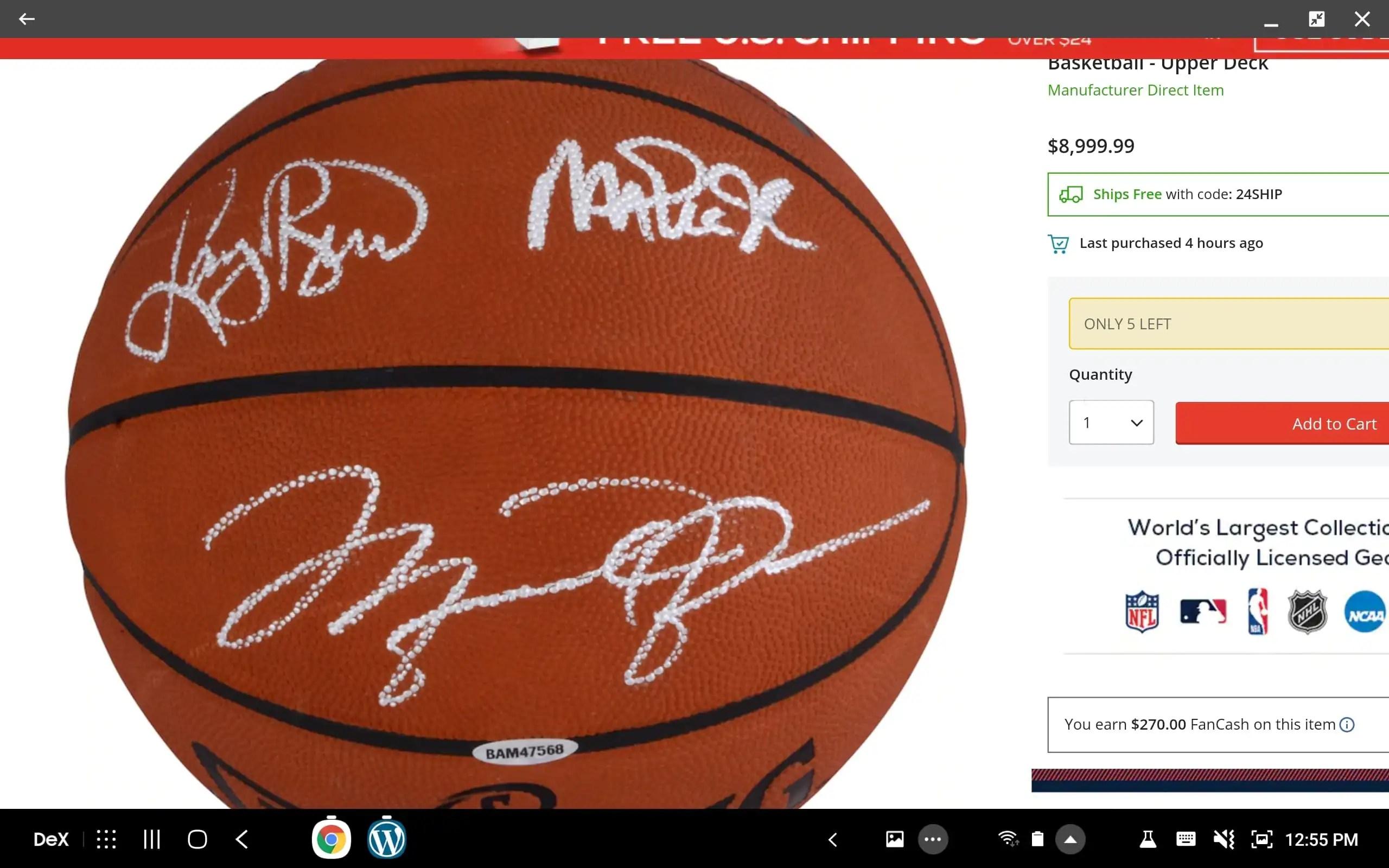 Bird, Magic, and Jordan Autographed Ball via @PhillyWhat