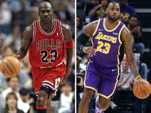 Michael Jordan and LeBron James : Who's the goat? Is LeBron better than Jordan?