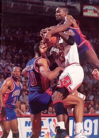 Michael Jordan would have more rings if the Pistons couldn't play bully ball