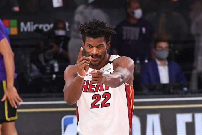 Miami Heat star Jimmy Butler and his playoff stats.