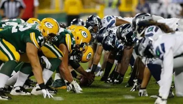 Packers vs. Seahawks pre-snap