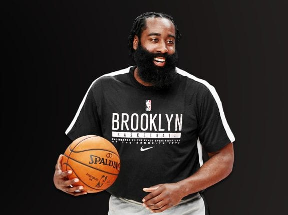 James Harden with the Nets after getting traded from Houston