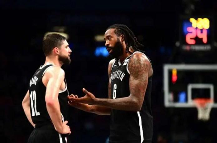 Brooklyn Nets players Joe Harris & DeAndre Jordan