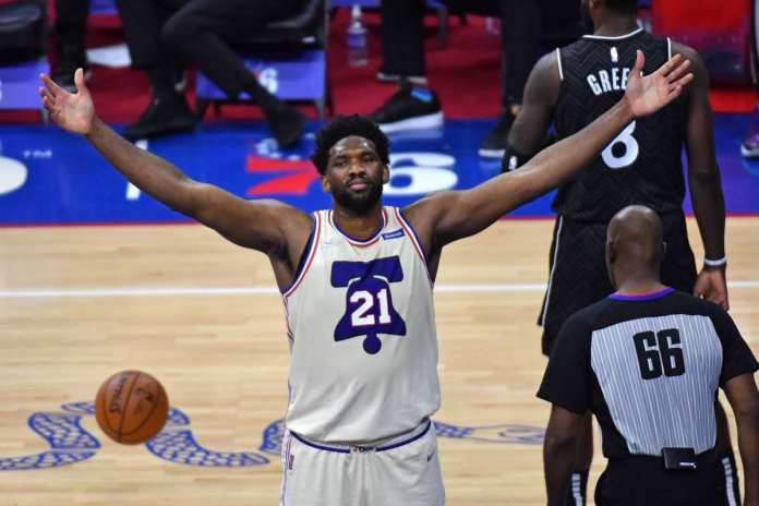 NBA MVP candidate, Joel Embiid is the local point of the Sixers offense to get them through the NBA eastern conference playoffs