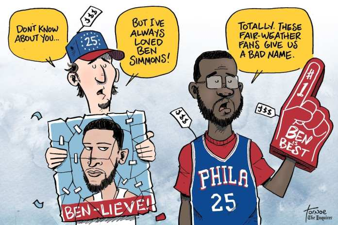 Ben Simmons careeer stats with the Sixers have made some fans unsure about the future.