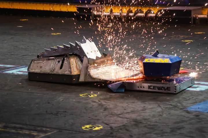 Sparks fly as BattleBot - SubZero attacks!