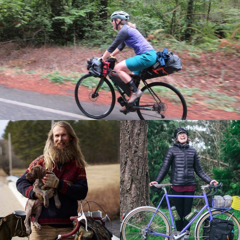 How to stuff your stuff into your stuff: a bike packing presentation by @ultraromance; Hillary Washburn, Ortlieb USA; and Martina Brimmer, Swift Industries