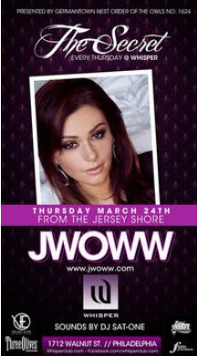 """JWOWW from """"The Jersey Shore"""" WILL BE ALL OVER PHILLY IN MARCH"""