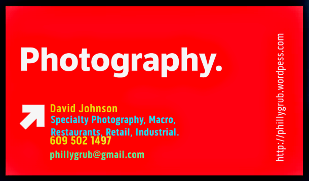 David Johnson Specialty Photography for Philly Restaurants, Retail and more