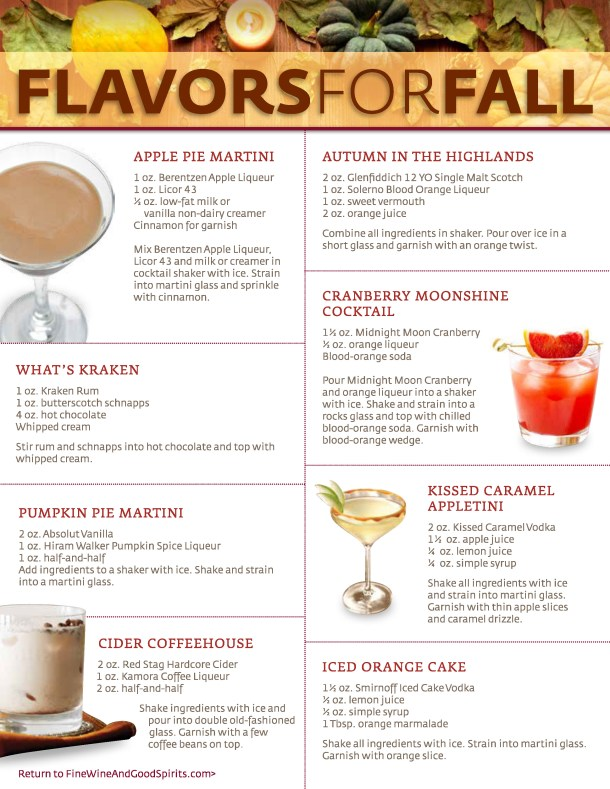 image: Fall Themed Cocktails