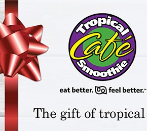 Tropical Smoothie Cafe Gift Card Giveaway