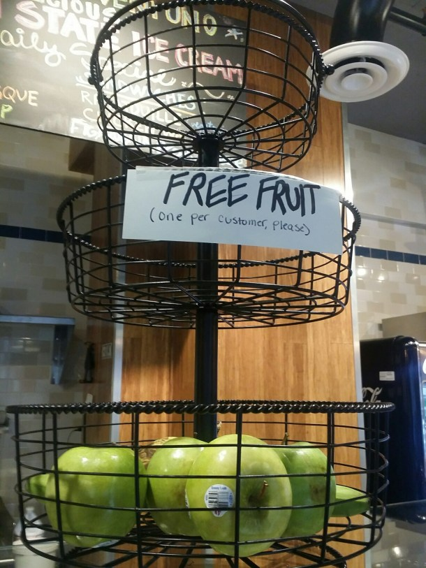 Free Fruit at Ventuno Philly