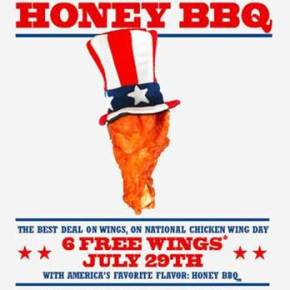 East Coast Wings & Grill To Offer Free Wings on National Chicken Wing Day July 29 & Giveaway!
