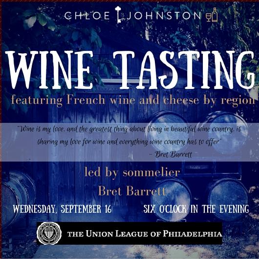Chloe Johnston Wine Tasting at Union League