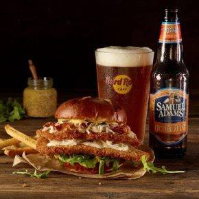 Samuel Adams OctoberFest Schnitzel Burger at Hard Rock Cafe Philadelphia