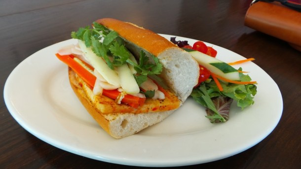 Tofu Banh Mi from The Living Room Cafe