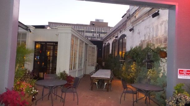 Outdoor Courtyard at SOUTH Kitchen & Jazz Parlor