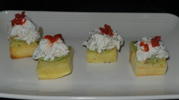 Blue Crab Toast at SOUTH Kitchen & Jazz Parlor