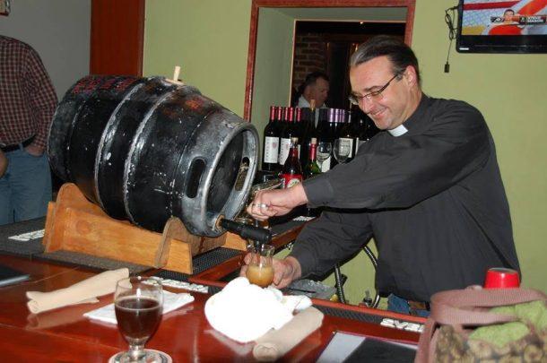 Father Kirk Gingerbread Jesus Barren Hill Tavern