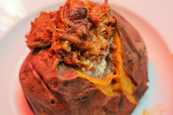 Nick's Old City Pulled Pork Sweet Potato