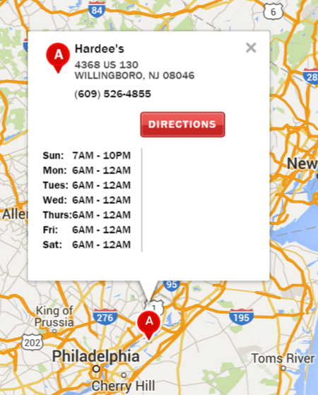 Hardee's Willingboro NJ