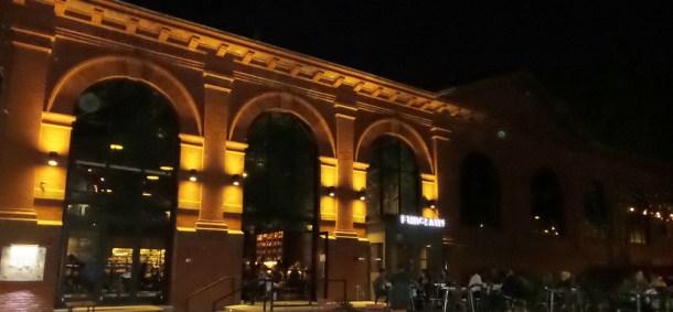 La Peg at Fringe Arts Beer Garden at Night