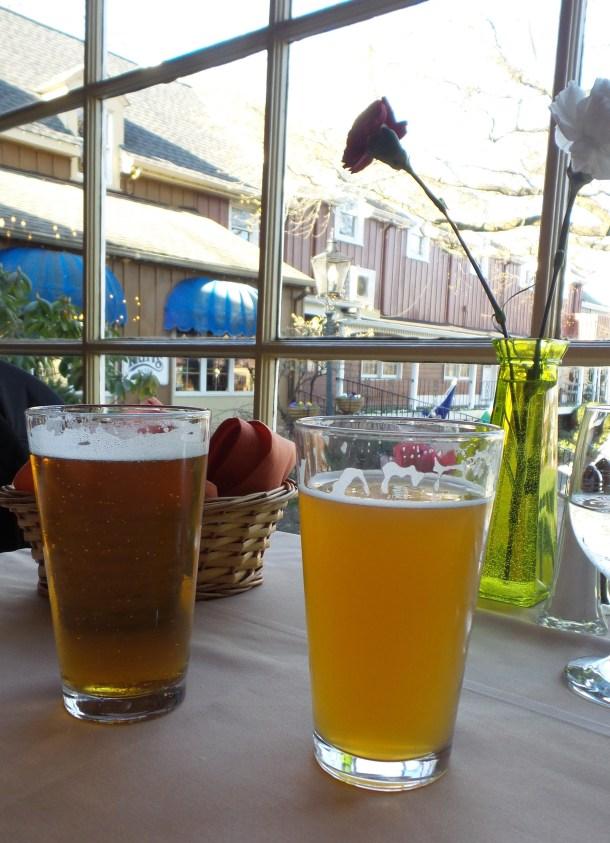 Beers at Cock N Bull Peddler's Village