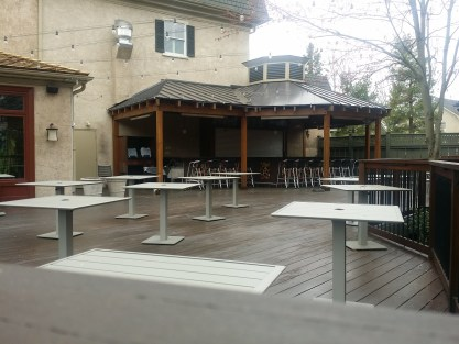 Outdoor Dining Deck at Buttonwood Grill Peddler's Village