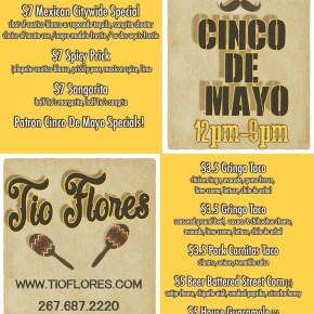 Cinco de Mayo Specials at Tio Flores