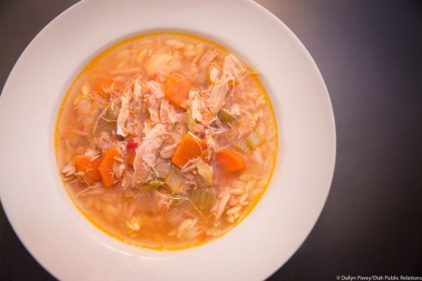 Cotoletta Homemade Chicken Soup with Orzo
