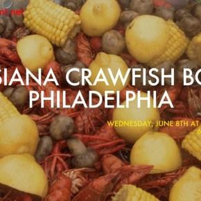Louisiana Crawfish Boil in Philadelphia at SOUTH Restaurant on June 8
