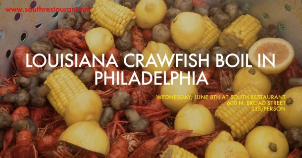 Louisiana Crawfish Boil at SOUTH