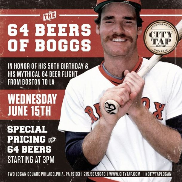 64 Beers of Boggs - Wade Boggs Beerfest at City Tap House Logan Square