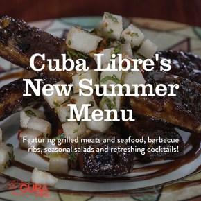 Cuba Libre Restaurant & Rum Bar Introduces Seasonal New Menu Items