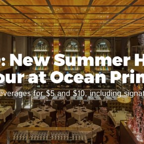 Ocean Prime Announces New $5 & $10 Happy Hour + Fresh Summer Cocktails