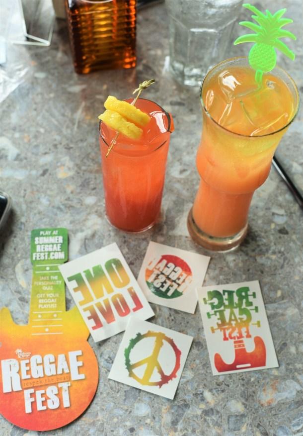 Bahama Breeze ReggaeFest Cocktails and Temporary Tattoos