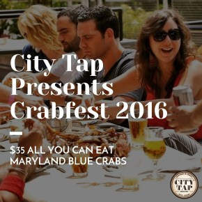 City Tap Presents Crabfest 2016: $35 All You Can Eat Maryland Blue Crabs