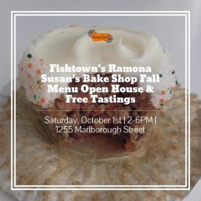 Ramona Susan's Bake Shop's Fall Menu Open House & Free Tasting