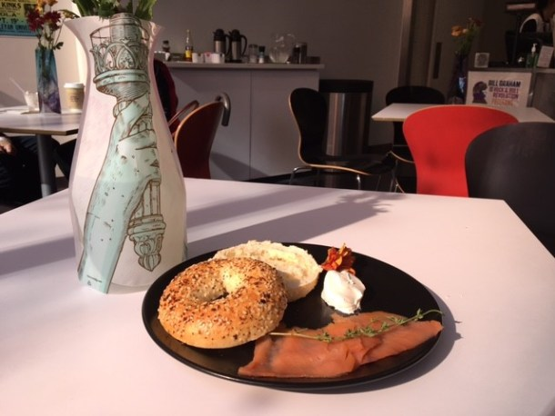 Bagel & Lox Sandwich at Pomegranates Cafe at National Museum of American Jewish History