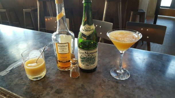 Calvados Cocktail at La Peg Brasserie