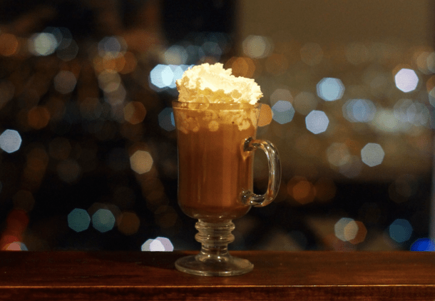 Spiked Hot Chocolate at SkyGarten Philly