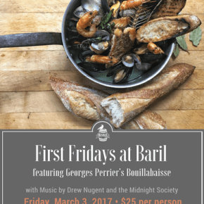 First Fridays at Baril with Georges Perrier